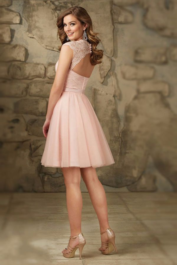 Robe de cocktail rose pastel