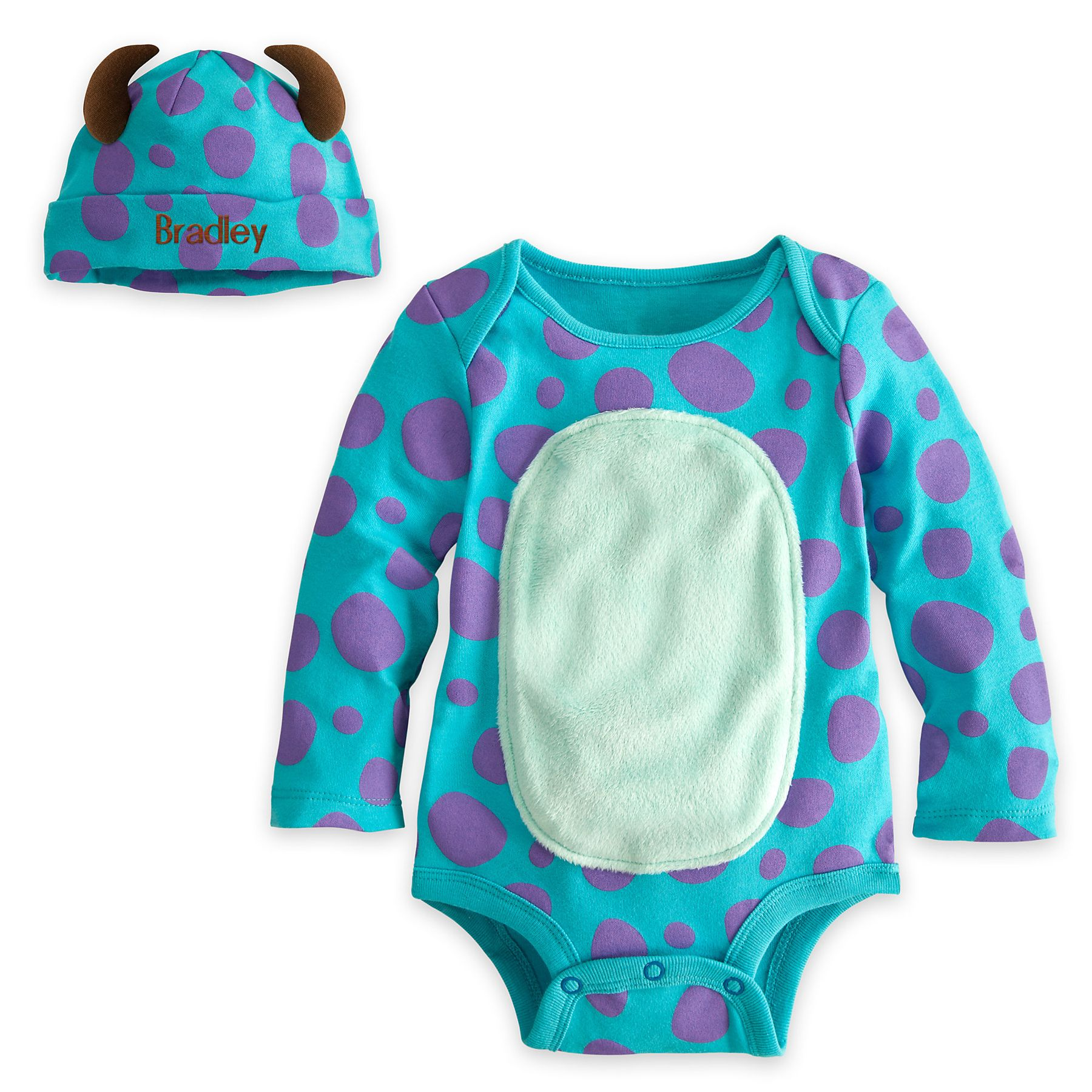 Sulley Disney Cuddly Bodysuit Set for Baby Personalizable