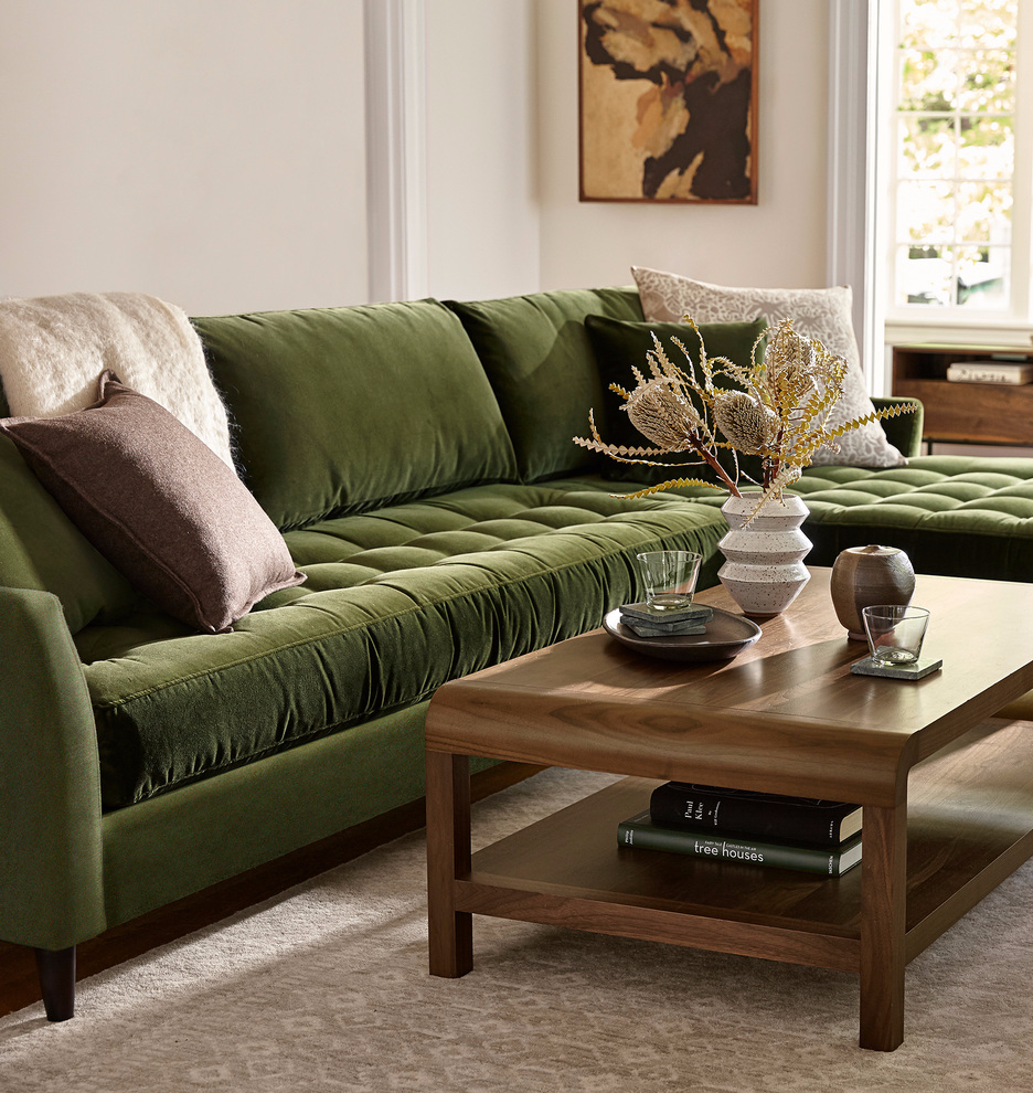Hastings Sectional Sofa Right Chaise Rejuvenation Sectional Sofas Living Room Green Sofa Living Room Sectional Sofa