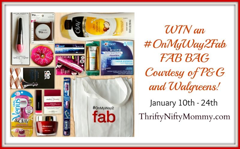 Onmyway2fab with pg and walgreens sponsored giveaway