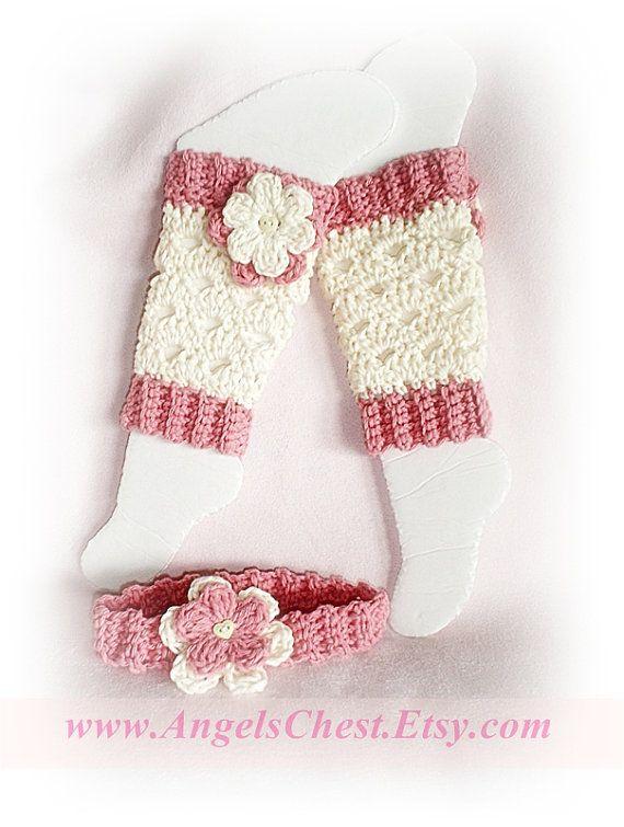 PDF Crochet Pattern Lovely Eggshell with Flowers LEG Warmers Size ...
