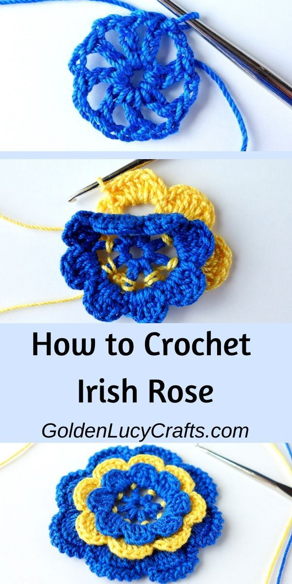 How to Crochet Irish Rose #irishlacecrochetpattern
