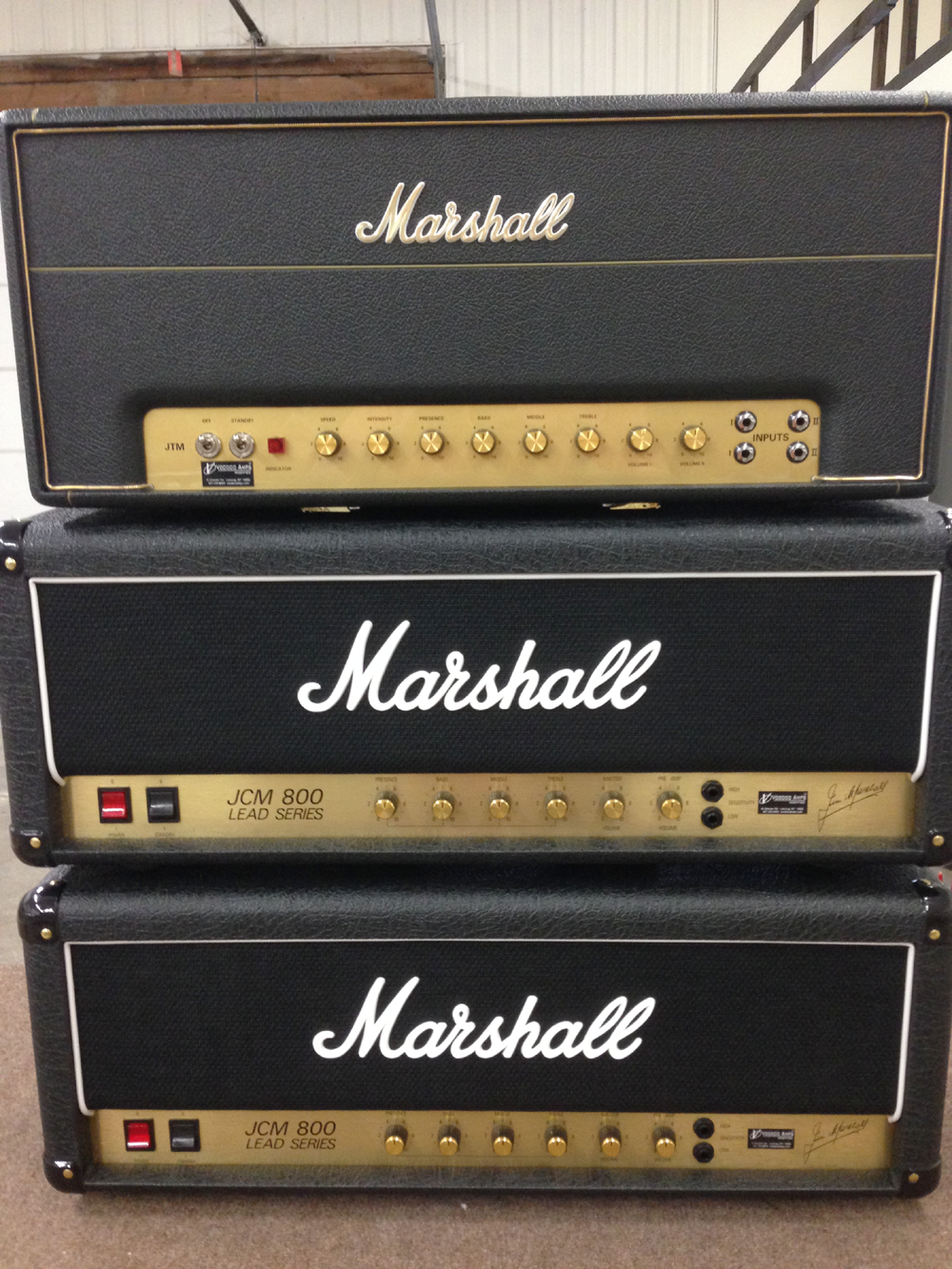 Joe Perry's Voodoo Modified Amps! (2) Marshall JCM800 2203x's w/Joe