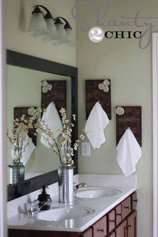 DIY Towel Racks For A Chic Bathroom Update Chic Bathrooms - Hand towel racks for bathrooms for bathroom decor ideas