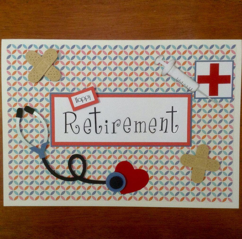 Nurse Retirement Card Retirement Cards Handmade Retirement