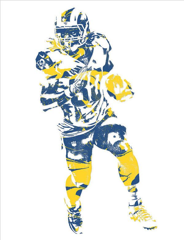Todd Gurley Los Angeles Rams Pixel Art 20 Art Print By Joe Hamilton Pixel Art Joe Hamilton Los Angeles Rams