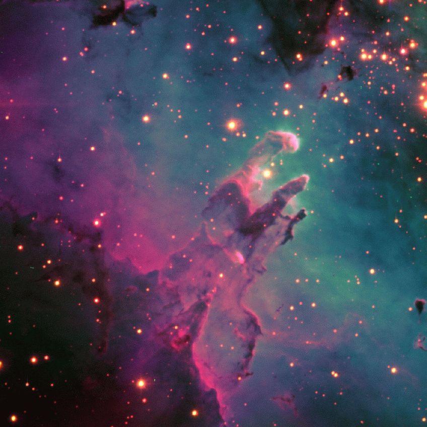 Nebulosa Nebula Eagle Nebula Hubble Space Telescope