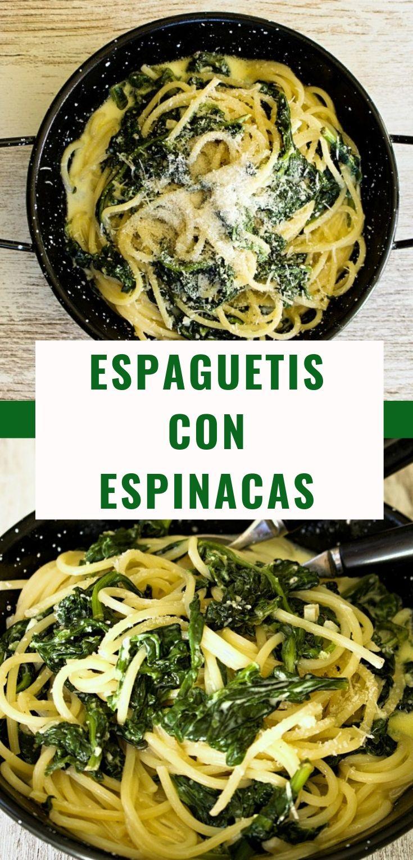 Espaguetis Con Espinacas Vídeo Receta Receta Espaguetis Con Espinacas Pasta Con Espinacas Comidas Con Espinaca