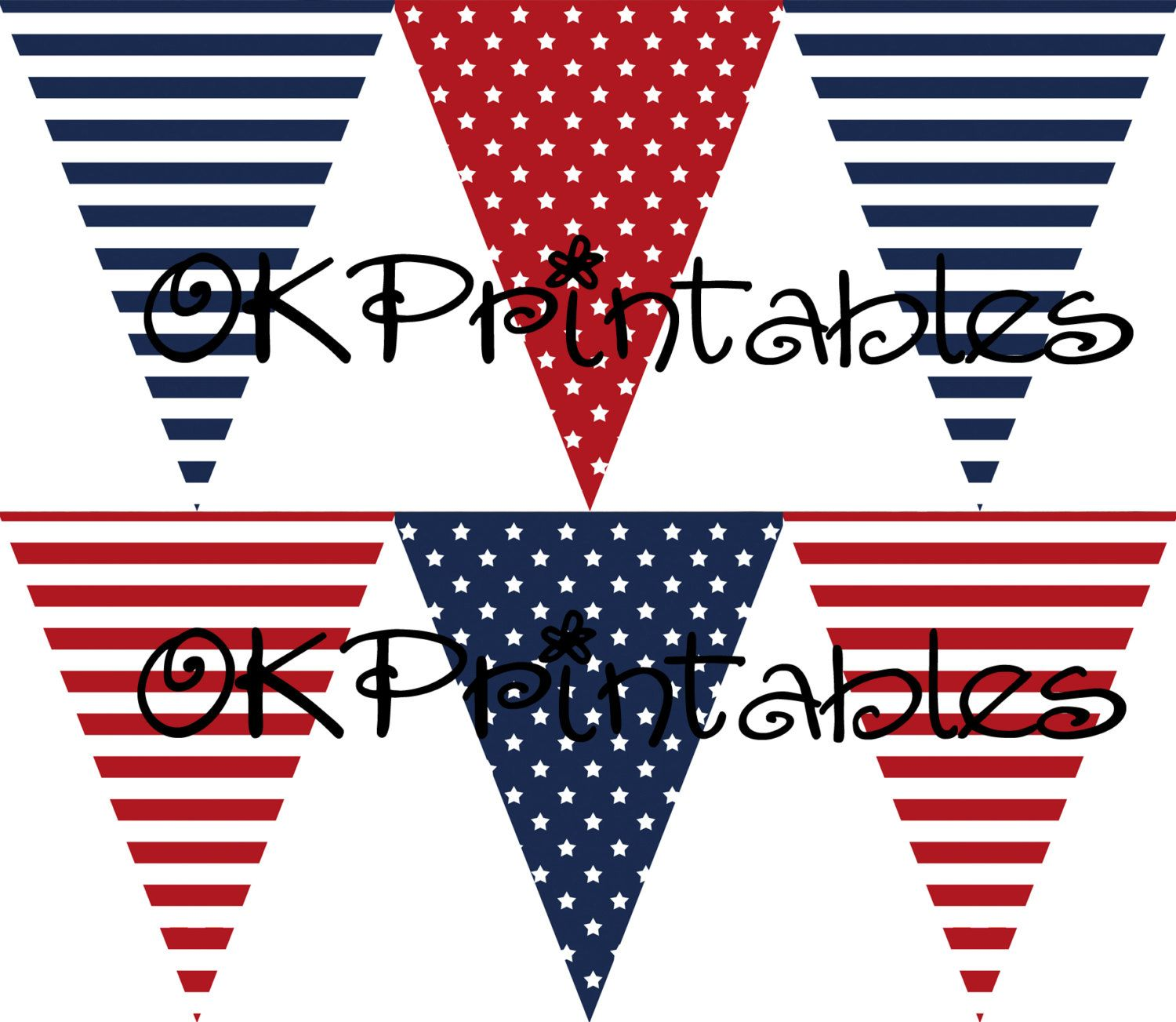 Patriotic Mix & Match Printable Banner