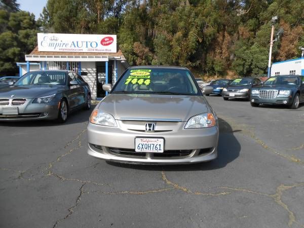 2003 honda civic hybrid low miles 70 000 7400 honda civic honda civic hybrid new cars pinterest