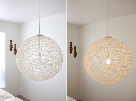 Лампа из ниток