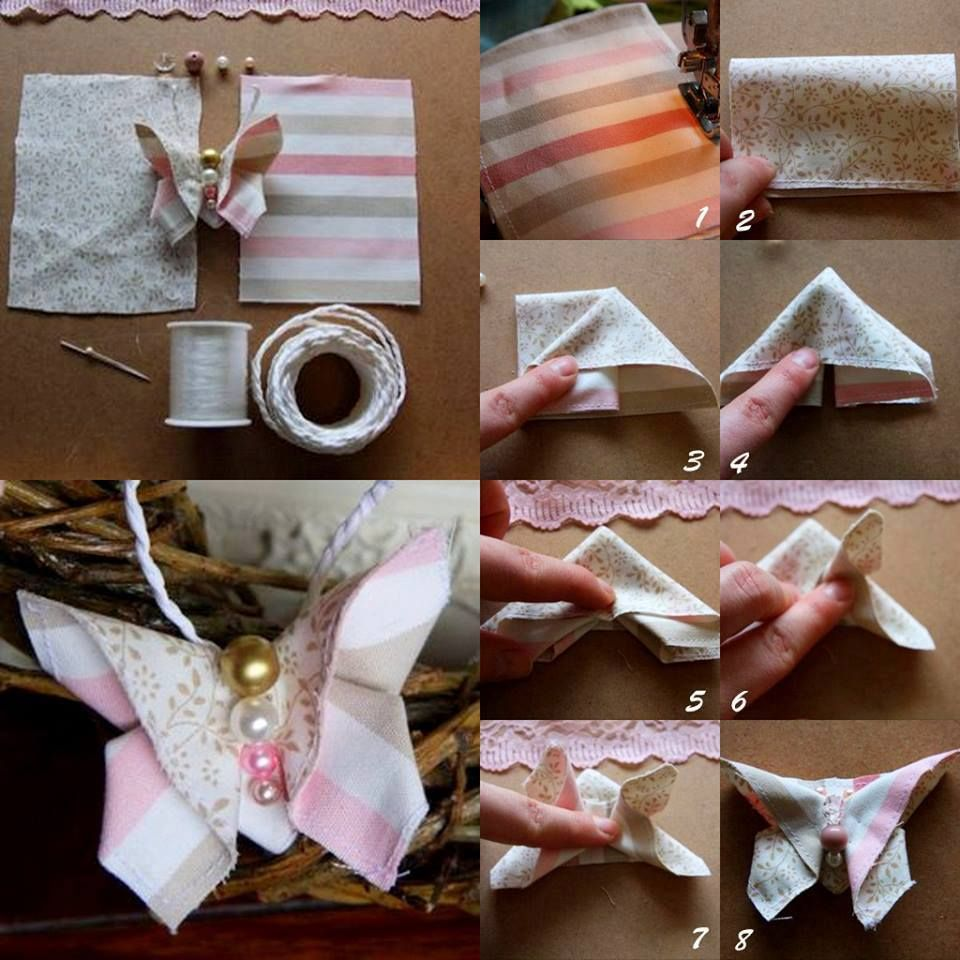Craft Wedding Gifts: DIY Fabric Butterfly DIY Fabric Butterfly -- If I Can Find
