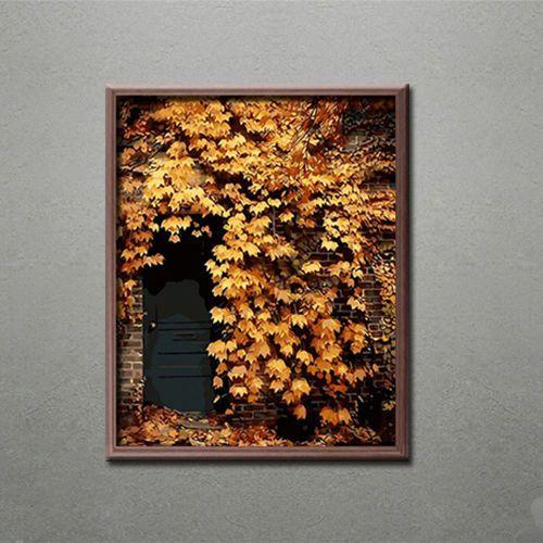 Malen Nach Zahlen Haus Wand Ranken Efeu Blaetter Herbst Sommer