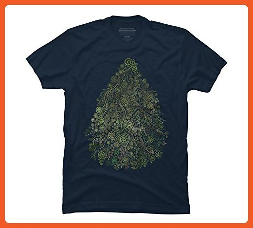 Fantasy Tree Men's Medium Navy Graphic T Shirt - Design By Humans - Fantasy  sci fi