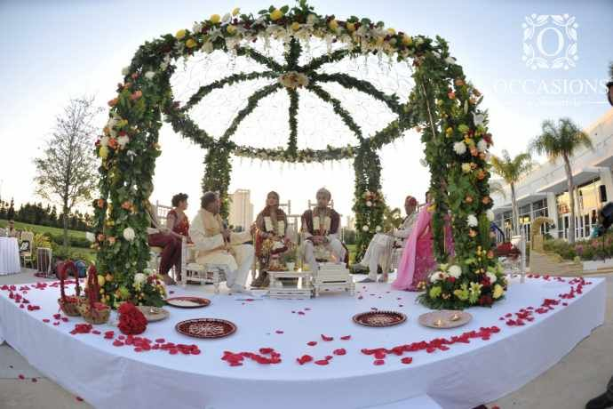 Indian wedding decor company occasions by shangri la provides indian wedding decor company occasions by shangri la provides indian wedding mandaps with junglespirit Images