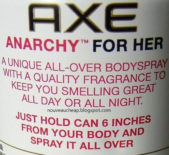 Nouveau Cheap Review Axe For Her Limited Edition Anarchy Body Spray Axe Anarchy Body Spray Anarchy