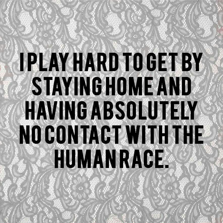 Pin-Up Insight: I play hard to get by staying home and having absolutely no contact with the human race.