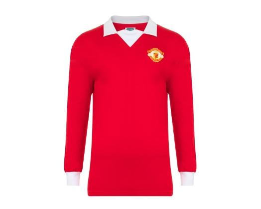 9251baafa Manchester United 1973 Home Shirt (long sleeve). Shirt available from  camporetro.com.
