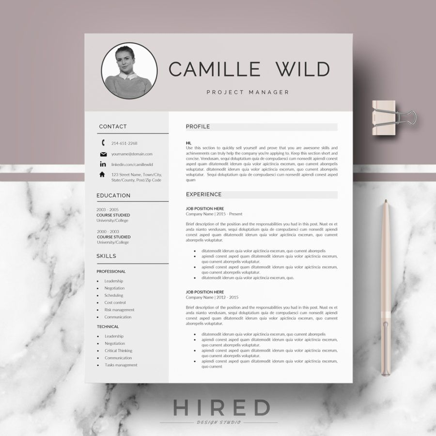 Cv Template Professional Resume Design Template Resume Template