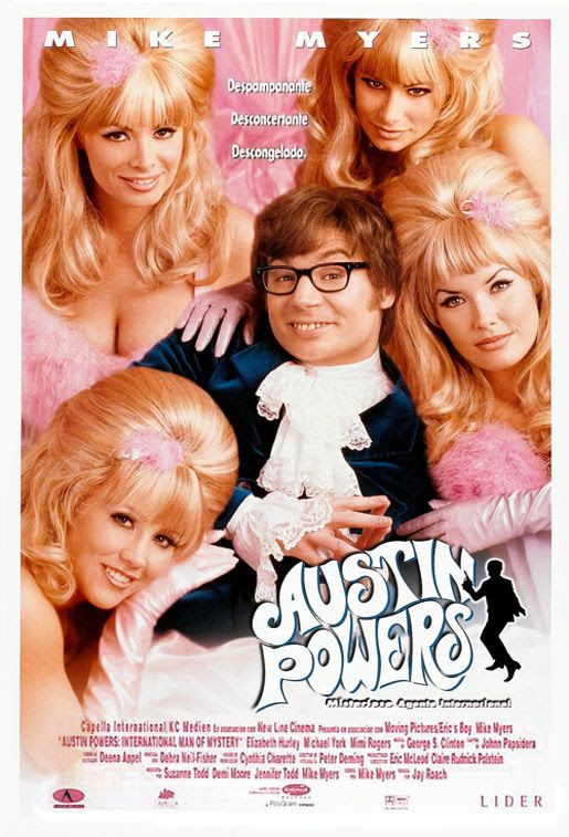 Austin Powers Misterioso Agente Internacional Austin Powers International Man Of Mystery Comedy Movies