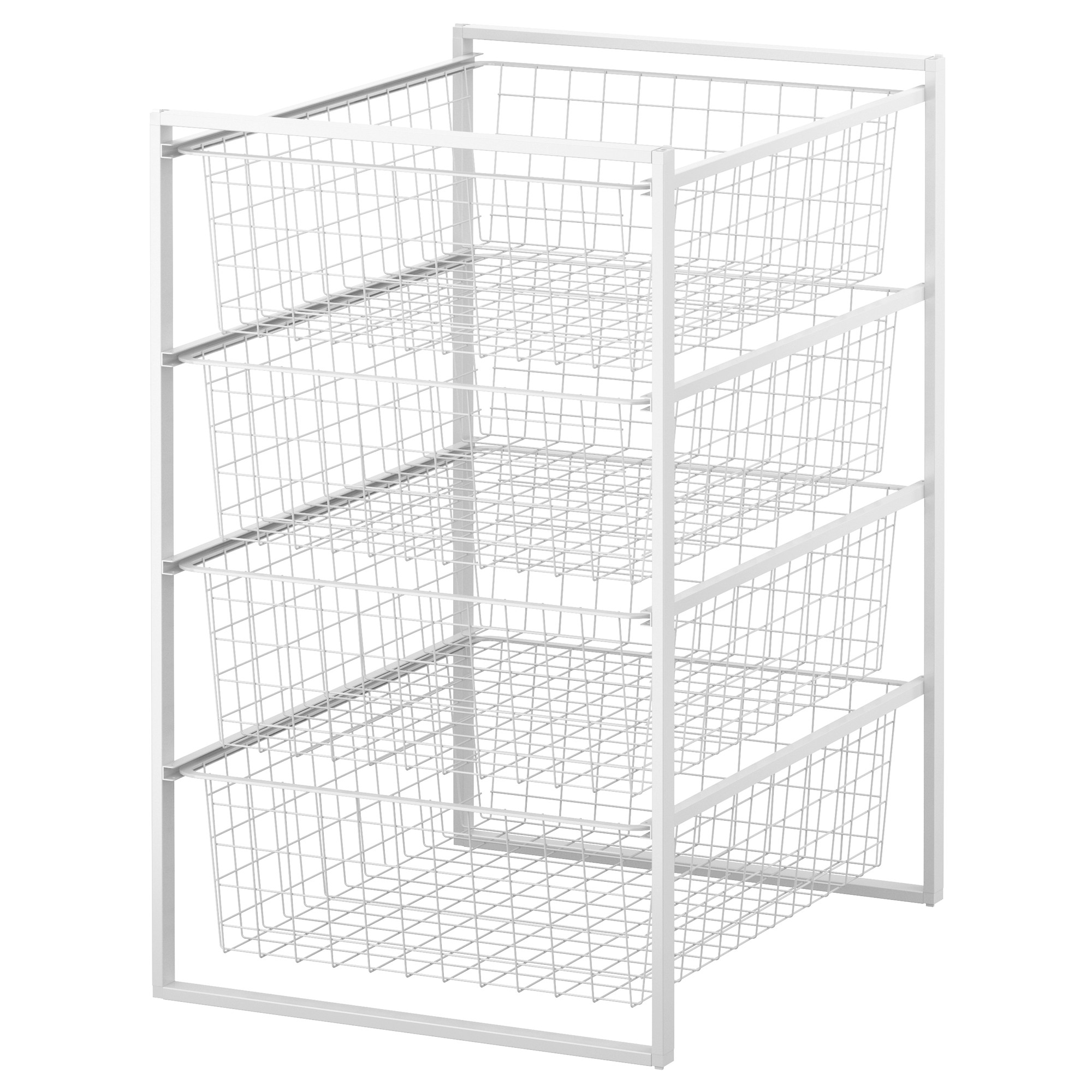 ANTONIUS Frame and wire baskets, white | Wire basket, Storage and Spaces