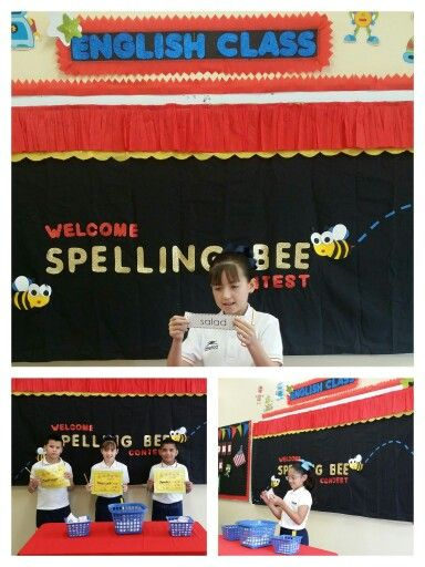 Spelling Bee Contest Bulletin Board.