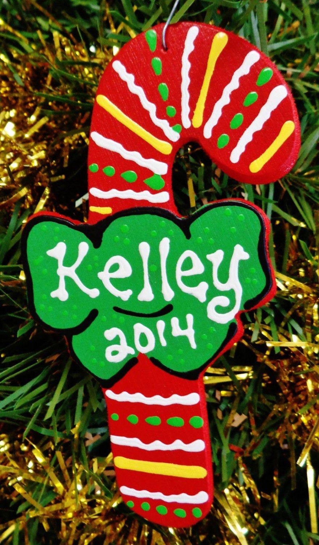 Custom Personalized Christmas Ornaments Monogram