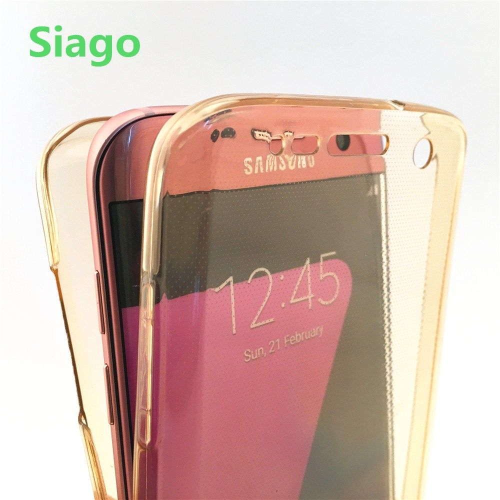 360 Full Protect Transparent Case For Samsung S4 5 6 7 Edge S8 Plus ...