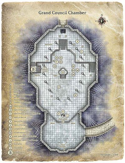 Conference Room Fantasy Map Dnd