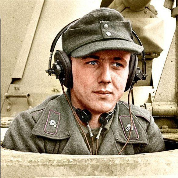 The driver of a Marder III Ausf. M tank destroyer of 1.Kompanie, Panzerjäger…