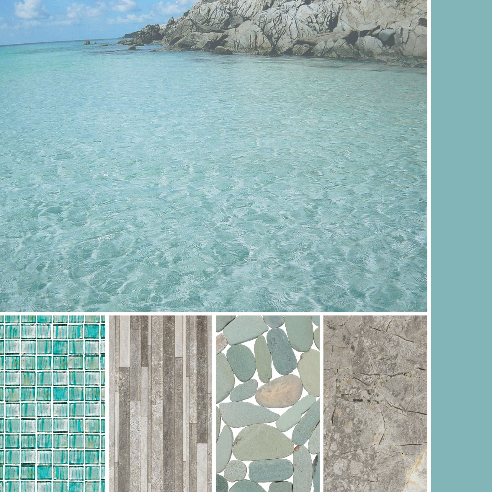 cool laguna green and grey for a tropical inspired palette color pallet aqua cabinets white island with aqua glass tile light gray walls bathroom designs