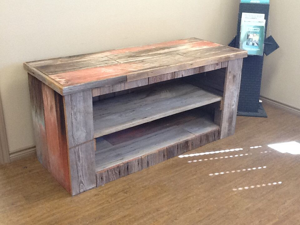 Barn Wood Tv Stand Made From Extremely