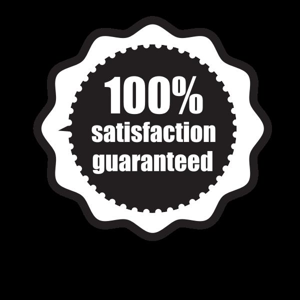 Satisfaction Guaranteed Sticker Clip Art Clip Art Black And White Stickers Free Clip Art