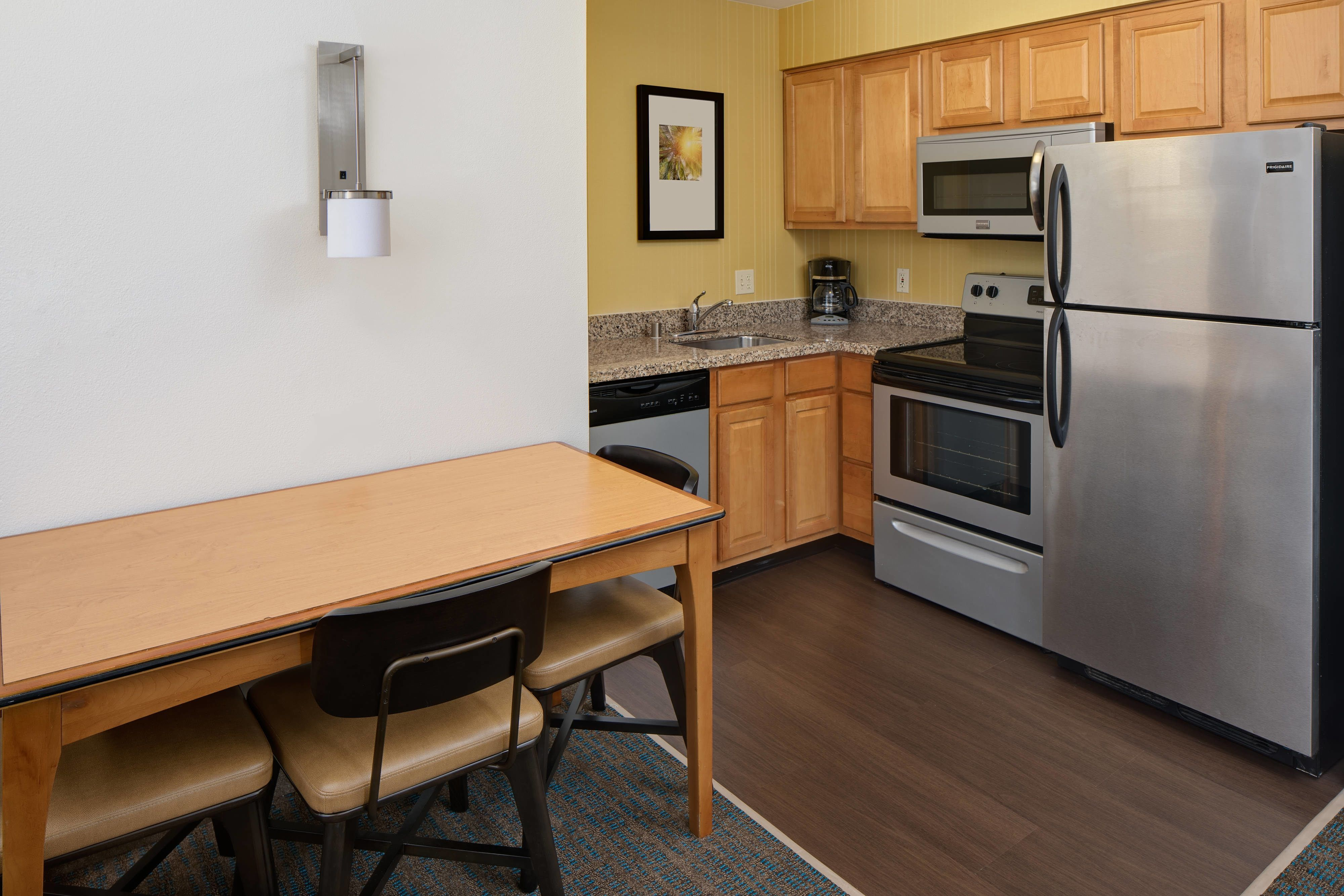Residence Inn San Diego Mission Valley Suite Kitchen Comfortable