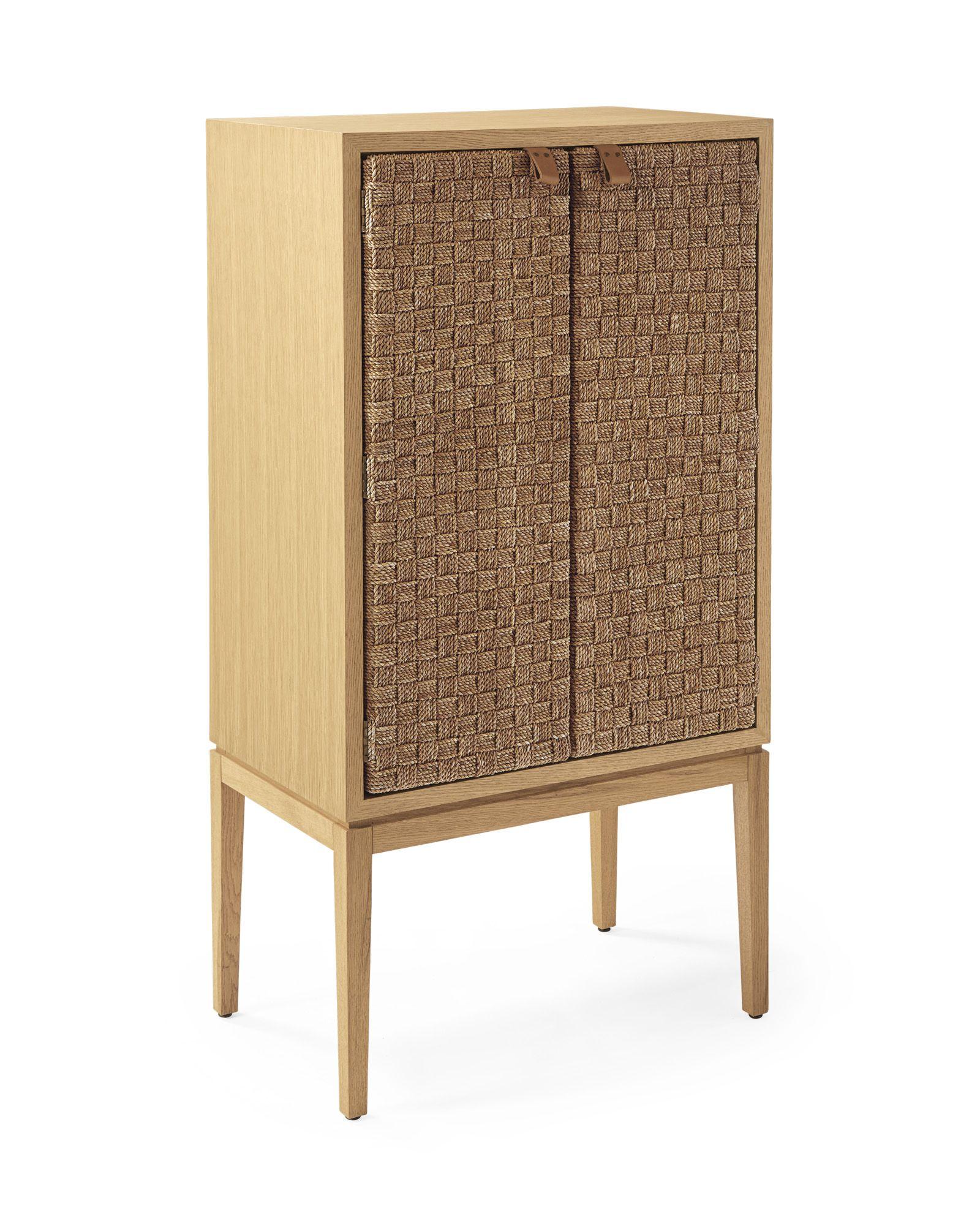 Caledonia Woven Bar Cabinet | Serena & Lily | $4500