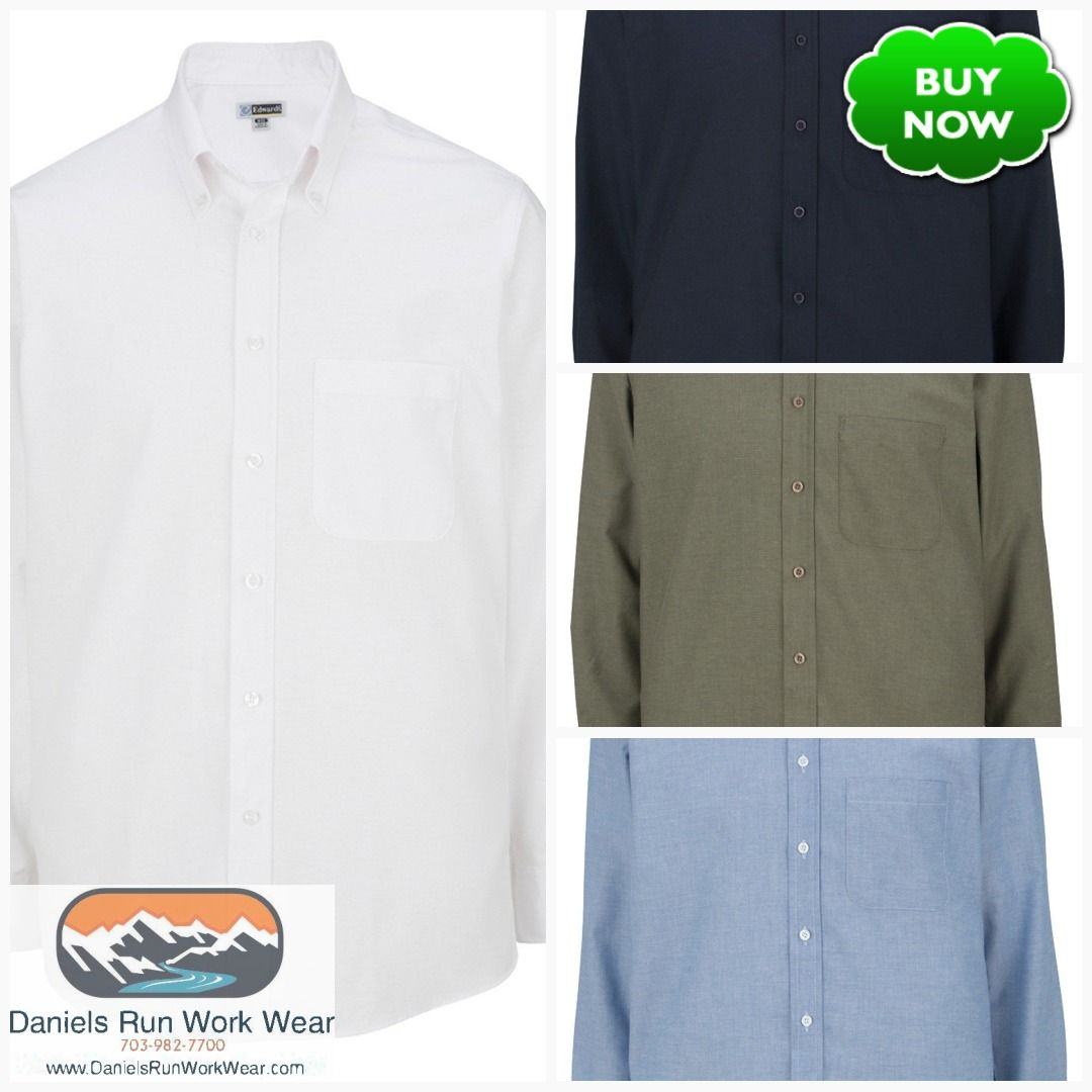 Edwards Mens Easy Care Long Sleeve Oxford