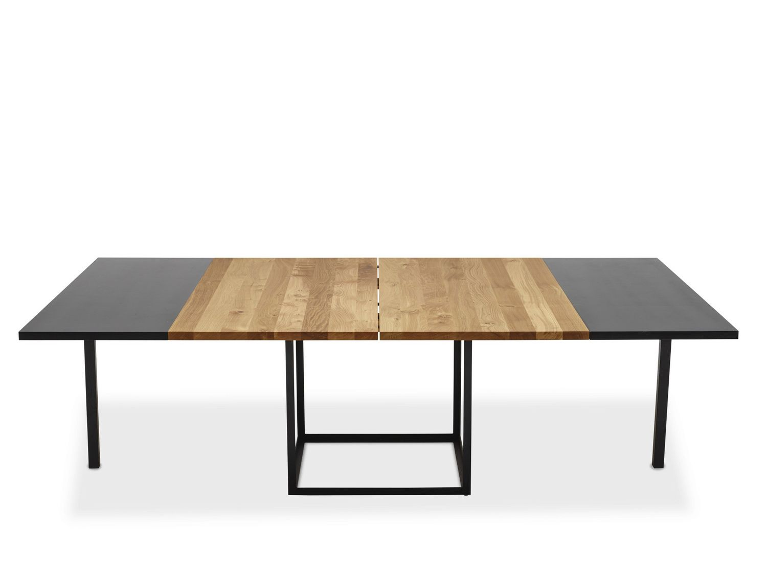 Jewel table carr e by dk3 design s ren juul salle a for Table en bois extensible