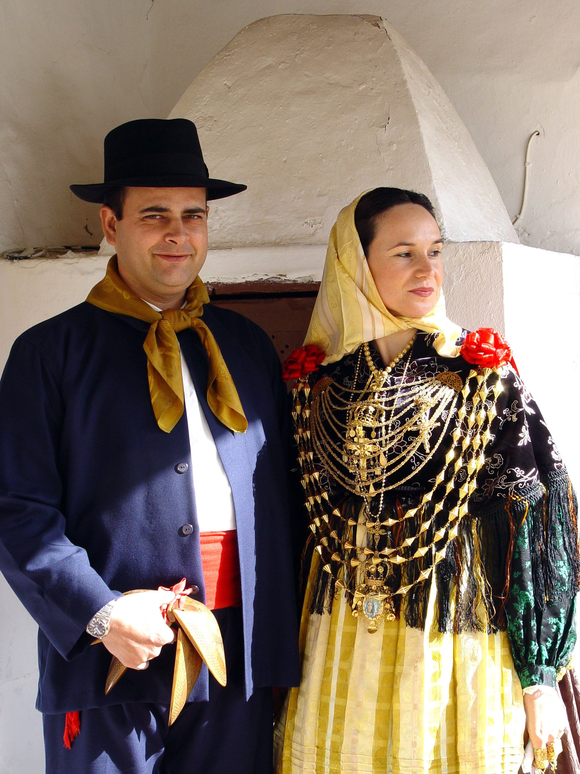 Payeses  (traditional dancers) from Sant Antoni Ibiza. Costume ... 729117f4be6