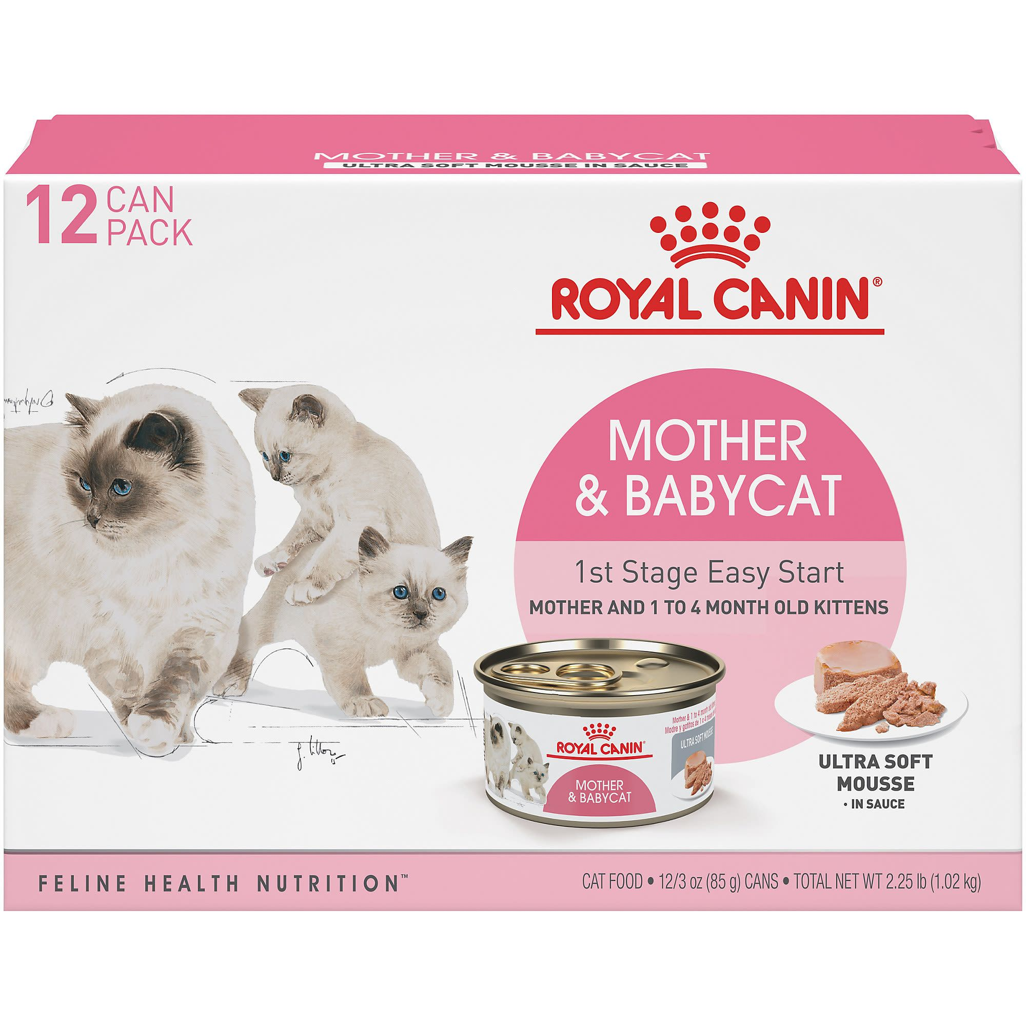 Royal Canin Mother Babycat Ultra Soft Mousse In Sauce Variety