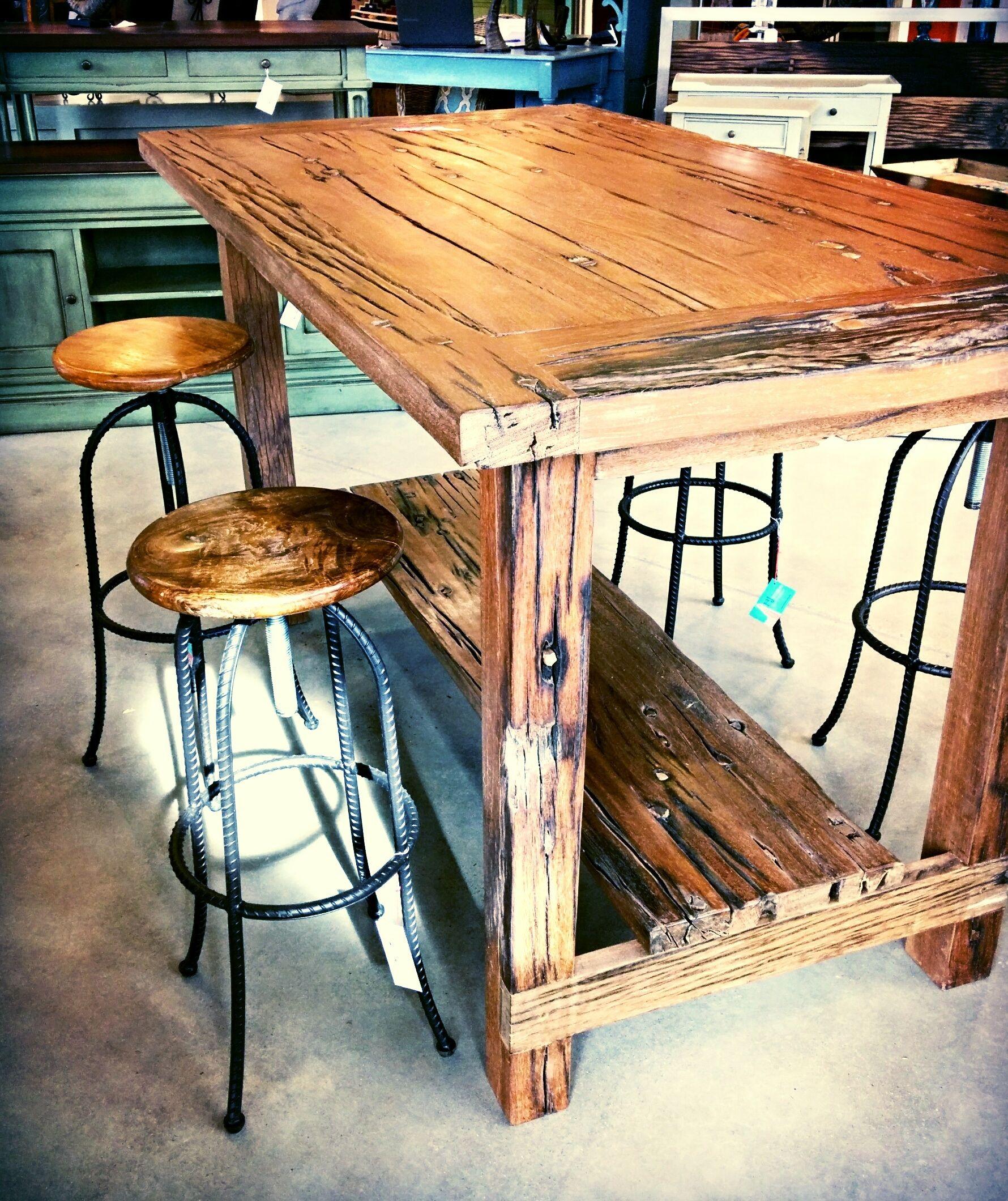 Beautiful Al Natural Hand Crafted Wood. Refurbished From Railroad Ties. Paj  Furniture, Salt