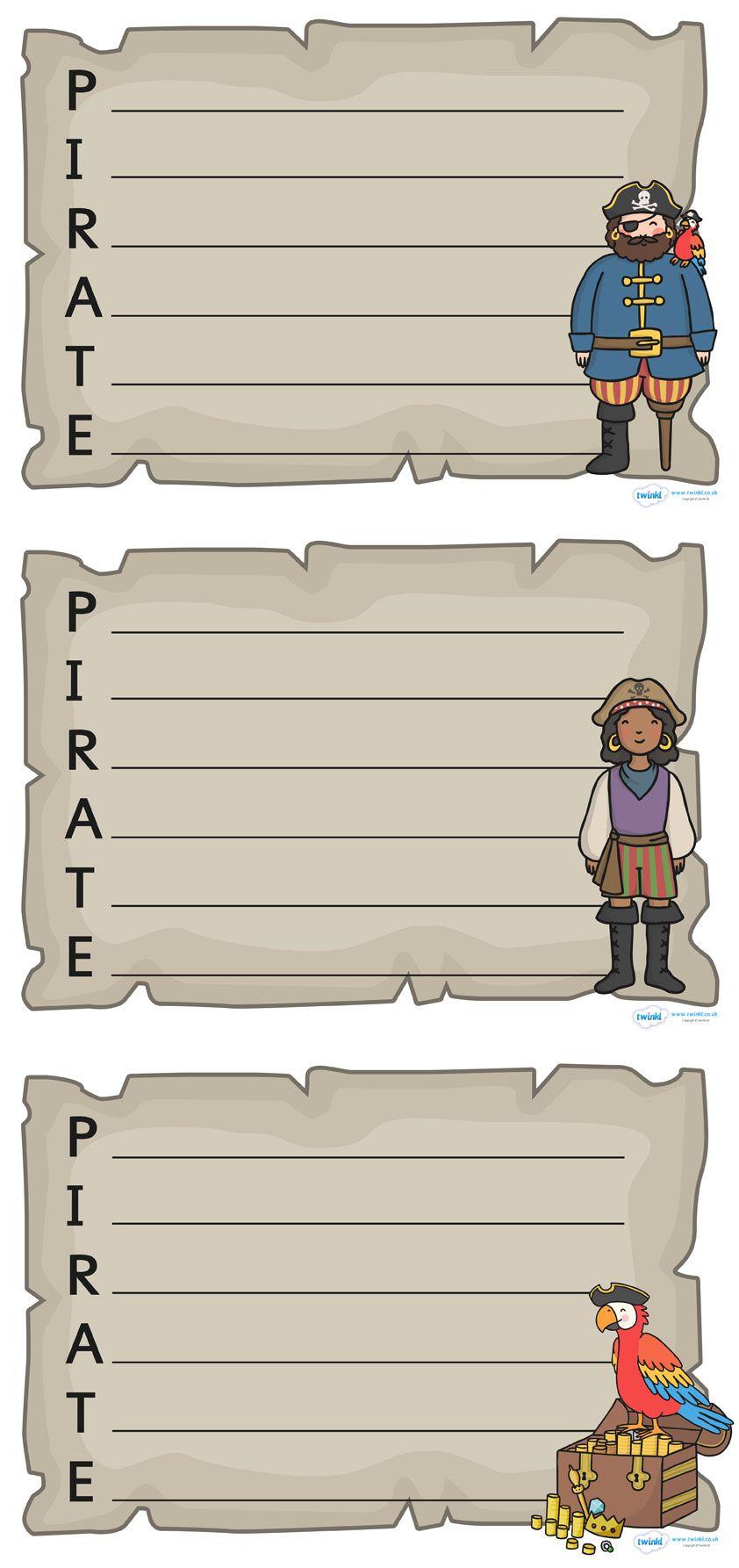 twinkl resources u003e u003e pirate acrostic poem writing frames