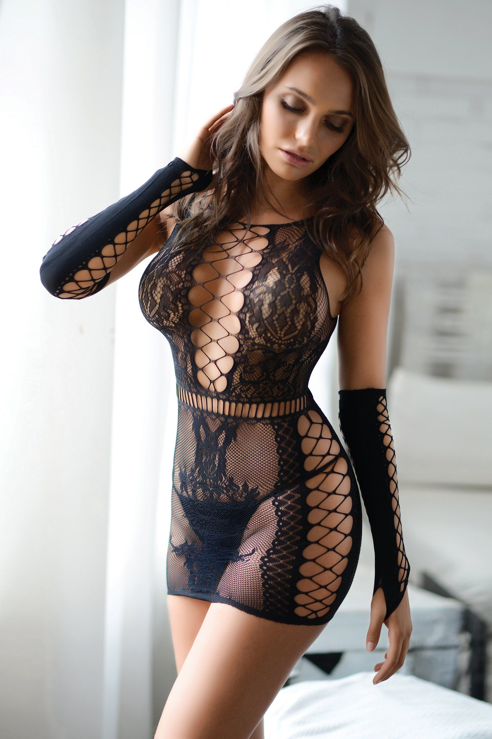 2a37253416e Smoke and Mirrors Fishnet Body Stocking Dress