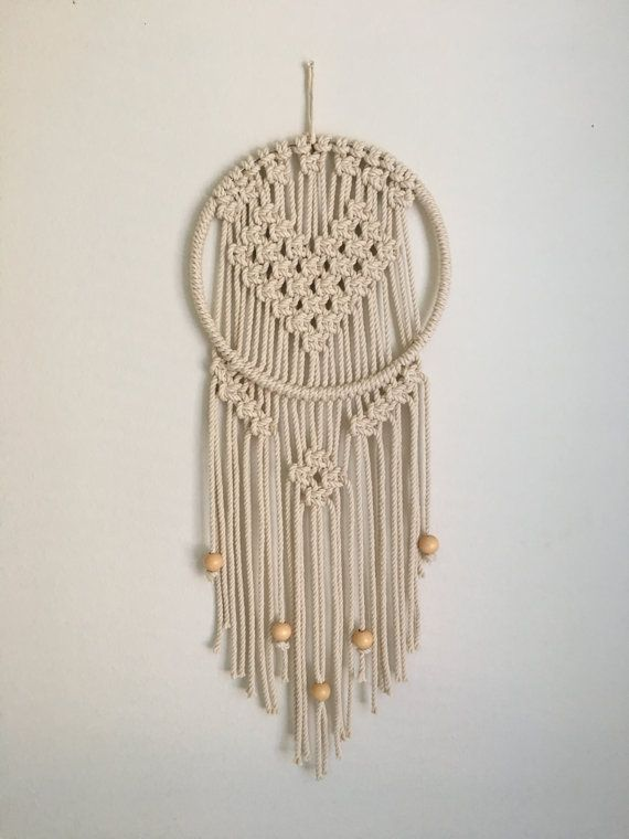 Macrame Heart Dreamcatcher By Homemadeventura On Etsy