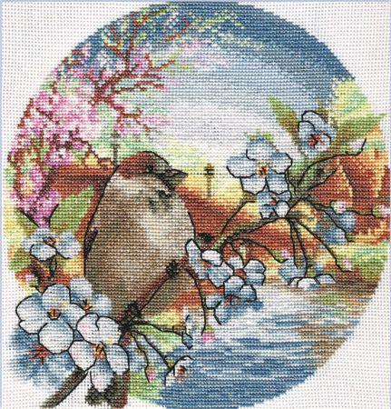 Springtime Paris Romance DIY Chart Counted Cross Stitch Patterns Needlework