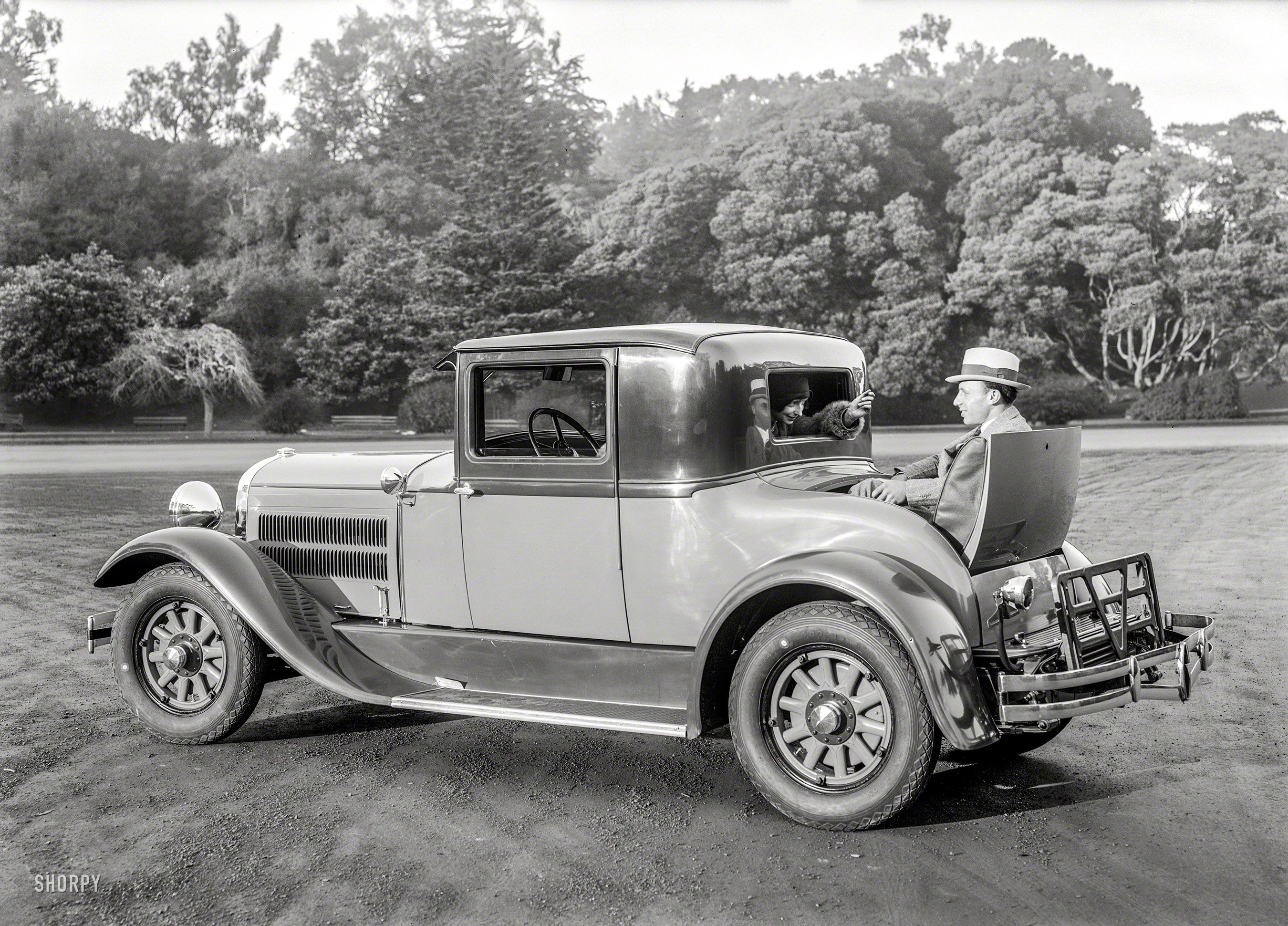 Car With Rumble Seat Somewhere In The Bay Area 5x7 Glass Negative By Christopher Helin Shorpy Historic Picture Archive