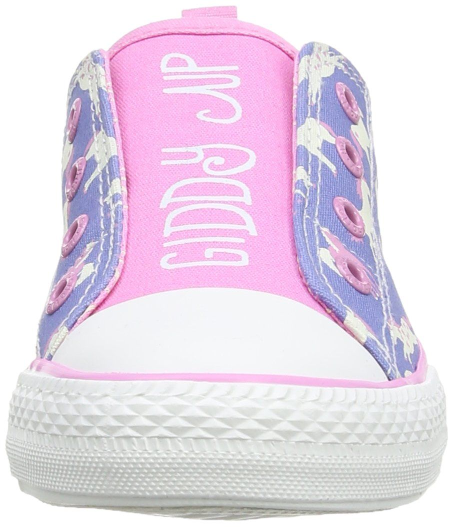 Hatley Girls' Canvas Shoes (Tod/Yth) - Hearts & Horses - 1 Youth