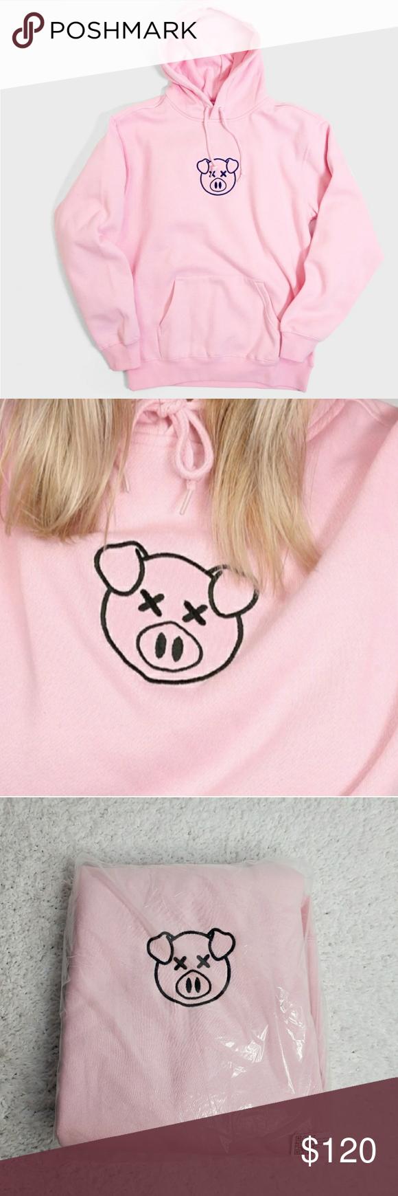 Authentic Shane Dawson Embroidered Pig Logo Hoodie Authentic Shane Dawson Embroidered Pig Logo Hoodie New S Cotton Pullover Sweatshirts Hoodie Sweatshirt Tops