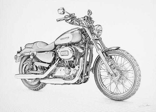 harley-davidson-1200-custom-regan-peters.jpg (600×430) | sketchs ...