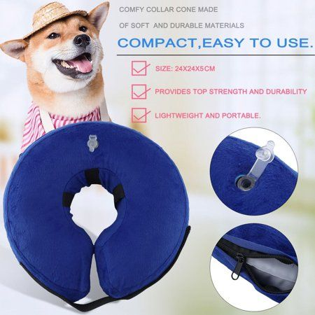 Bluetooth Protective Inflatable Collar For Dogs And Cats Soft Pet Recovery Portable Collar Anti Bite Cat S Recovery Wound E Pet Collars Dog Cone Large Dogs