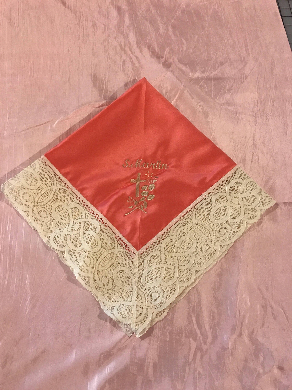 Custom Personalized Handkerchiefs Wedding Handkerchiefs First Lady Church  Handkerchief Gray Lace Handkerchiefs Embroidered Handkerchief by ...